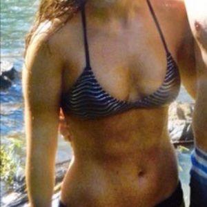 Reef black strappy bikini top